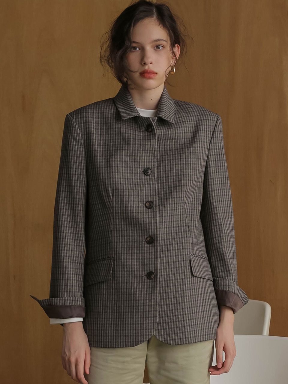 002 Vintage wool check jacket [BN]